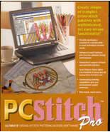 PC Stitch PRO Version 9 needlework cross stitch design Computer Software - $76.50