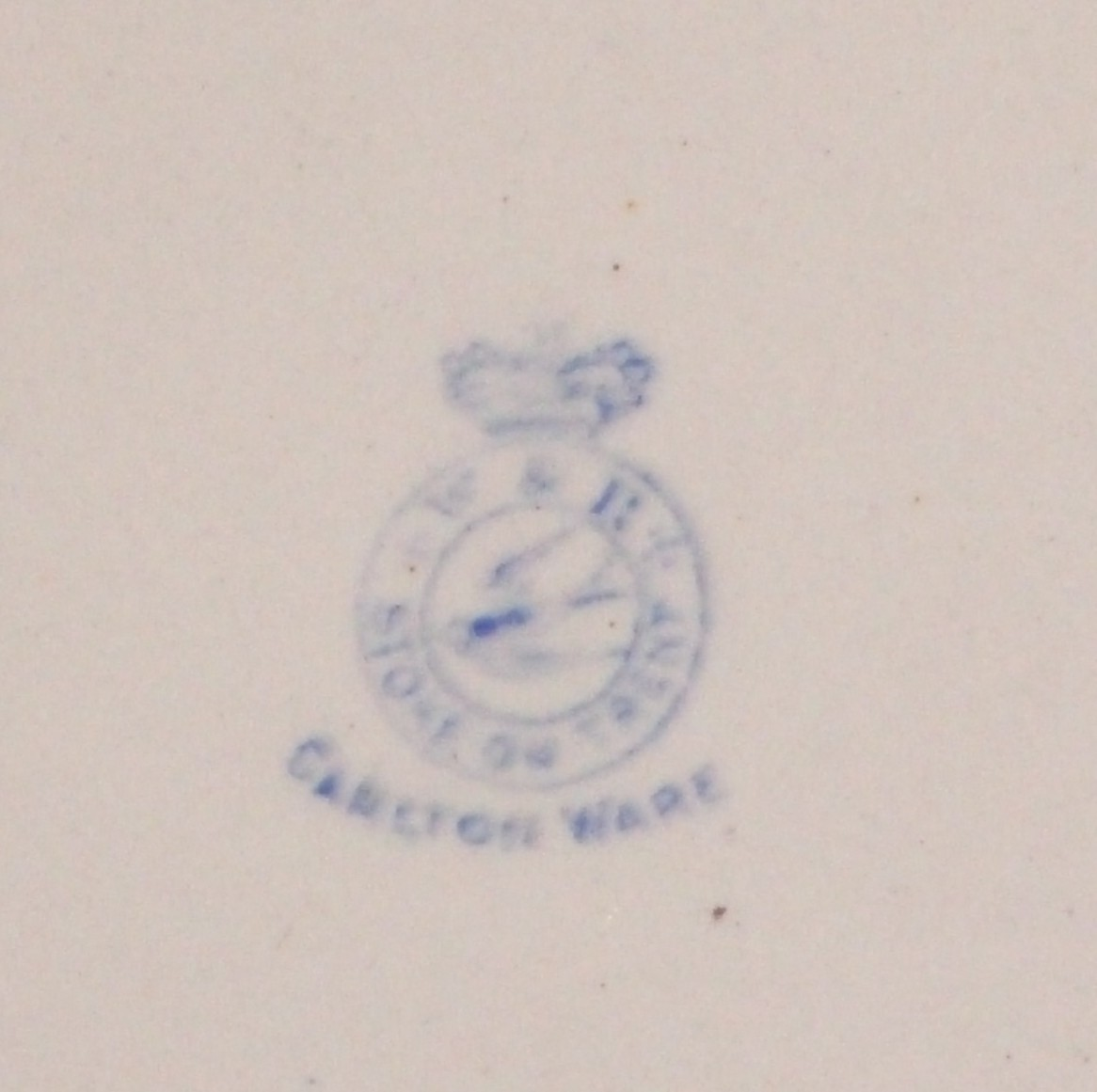 c 1894 Carlton Ware  Wiltshaw + Robinson BABY'S PLATE Stoke-on-Trent England