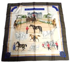 Authentic RARE! Hermes Carre Les Haras Nationaux Vintage 90cm Silk Scarf - $500.00