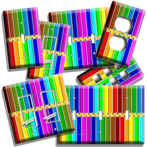 BRIGHT COLOR PENCILS PATTERN LIGHT SWITCH OUTLET PLATE ART HOBBY STODIO ... - $8.99+