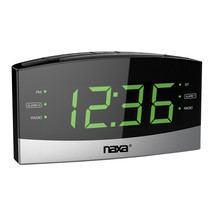 Naxa Bluetooth Easy-Read Dual Alarm Clock with Daily Repeat and USB Charge Port - $36.92