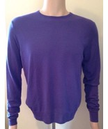 Ralph Lauren Mens Colour Purple Wool Jumper Size Medium Purple Label - $213.16