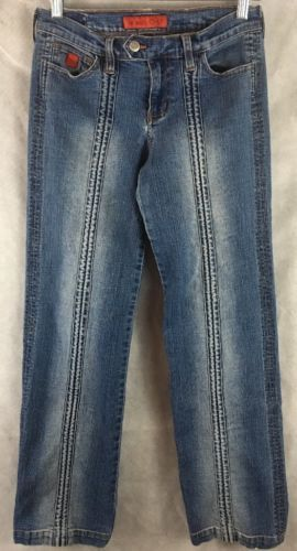 Bongo Let Me B. Blue Jeans Size 5 Stretch Slight Distressed Inseam 31""