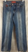 "Bongo Let Me B. Blue Jeans Size 5 Stretch Slight Distressed Inseam 31"" - $12.70"