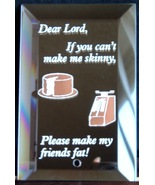 Mirrored Plaque Musical Brass Stand Dear Lord Collectible Decorative Humor - $12.95