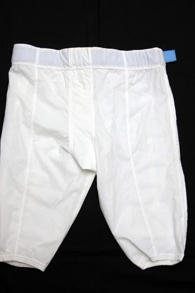 UNC TARHEEL GAME USED FOOTBALL PANTS WHITE Size 40 North Carolina