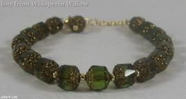 Green Glass Bead Fashion Bracelet - $27.95