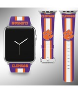 Clemson Tigers Apple Watch Band 38 40 42 44 mm Fabric Leather Strap 1 - $29.97