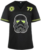 Star Wars Trooper '77 Scrub Top Men's V-Neck Small S Cherokee Tooniforms  - $32.15