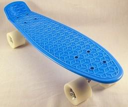 "NEW 74 Throwback Decks Blue 21.5"" Molded Plastic Skateboard FREE SHIPPING - $31.99"