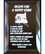 Mirrored Plaque Musical Wood Stand Recipe For A Happy Home Collectible D... - $14.95