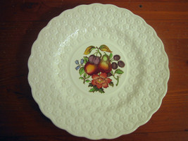 Copeland Spode Luncheon Plate Ring Fruit Bouquet Embossed Daisies Englan... - $28.44