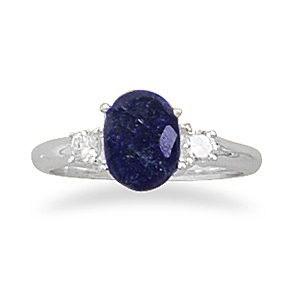 82726 sapphire and cz ring