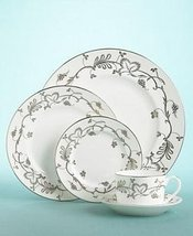 "WEDGWOOD Martha Stewart ""FLOURISH ECRU"" RIM SOUP BOWL MADE IN UK BONE CHINA NEW - $99.90"