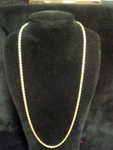 """ANTIQUE 1/20 14K 20"""" THICK BRAIDED 3MM NECKLACE 13 GRAMS - $43.56"""