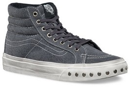 VANS SK8 HI SLIM OVERWASHED BLUE GRAPHITE MENS 5.5 NEW NIB WOMENS 7 SKAT... - $56.06