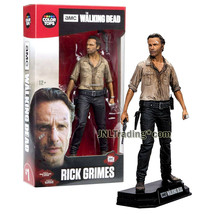 Year 2016 AMC TV Walking Dead 7 Inch Tall Figure - RICK GRIMES with Revolver - $29.99