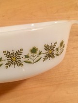 Vintage 60s Anchor Hocking 1qt casserole - Meadow Green pattern #436 image 3