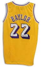 Elgin Baylor Los Angeles Lakers Autographed Gold Jersey - $162.00