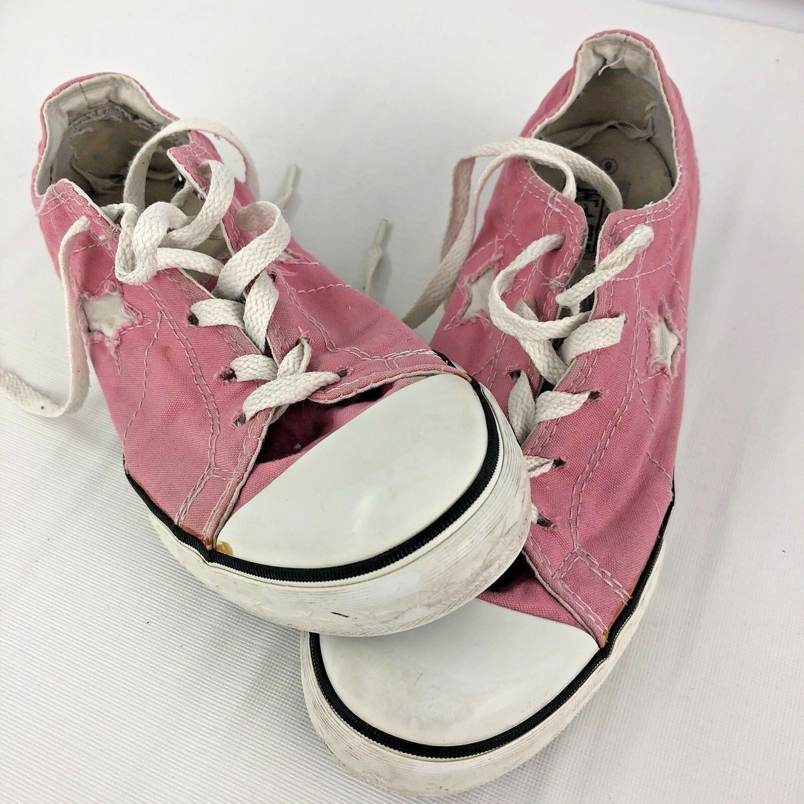 Pink Converse Woman 6 All Stars Low Top Hipster Shoes Canvas image 5