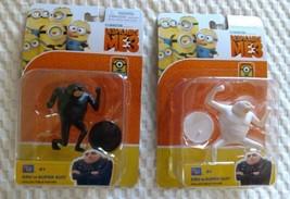 Despicable ME 3 GRU DRU SUPER SUIT White Black  Toy Figure SET NEW lot t... - $20.00