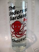 Undersea Gardens Victoria BC. Shot Glass Octopus Souvenir Canada Collectible