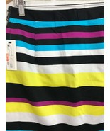 Worthington Womens Multi Spectrum Striped Mini Stretch Skirt Size 6 - $20.99