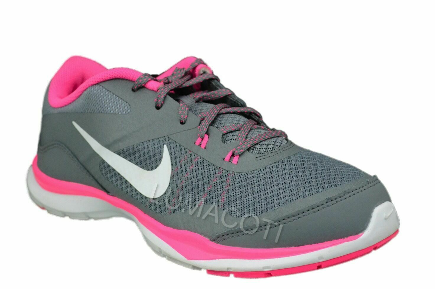 Womens Nike Flex Trainer 5 Running Shoes - Grey/Pink, Size 9 [724858 003] - $55.99