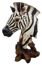 Ebros Safari African Savanna Zebra Horse Wildlife Bust Statue As Zoo Zebras Hors - $26.72