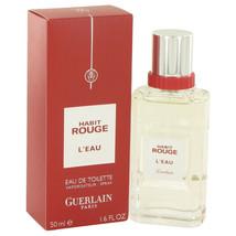 Habit Rouge L'eau by Guerlain Eau De Toilette Spray 1.6 oz for Men - $35.64