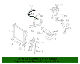 Mercedes 2305011125 OEM Engine Coolant Breather Pipe Vent Hose for SL65 ... - $45.89