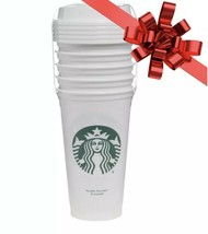 Starbucks Reusable White Cup Collection Tumbler 16 Oz Pack of 5 Sealed G... - $19.00