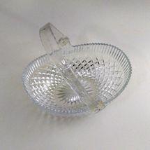 Hoya Lead Crystal Glass Basket w/ Plastic Handle 1960's Vintage image 4