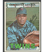 Minnesota Twins Earl Battey 1967 Topps Baseball Card #15 ex+/em - $1.15