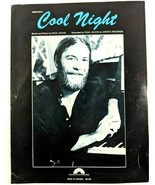 Paul Davis Cool Night Sheet Music Vintage 1981 Rare Out of Print Arista - $48.33