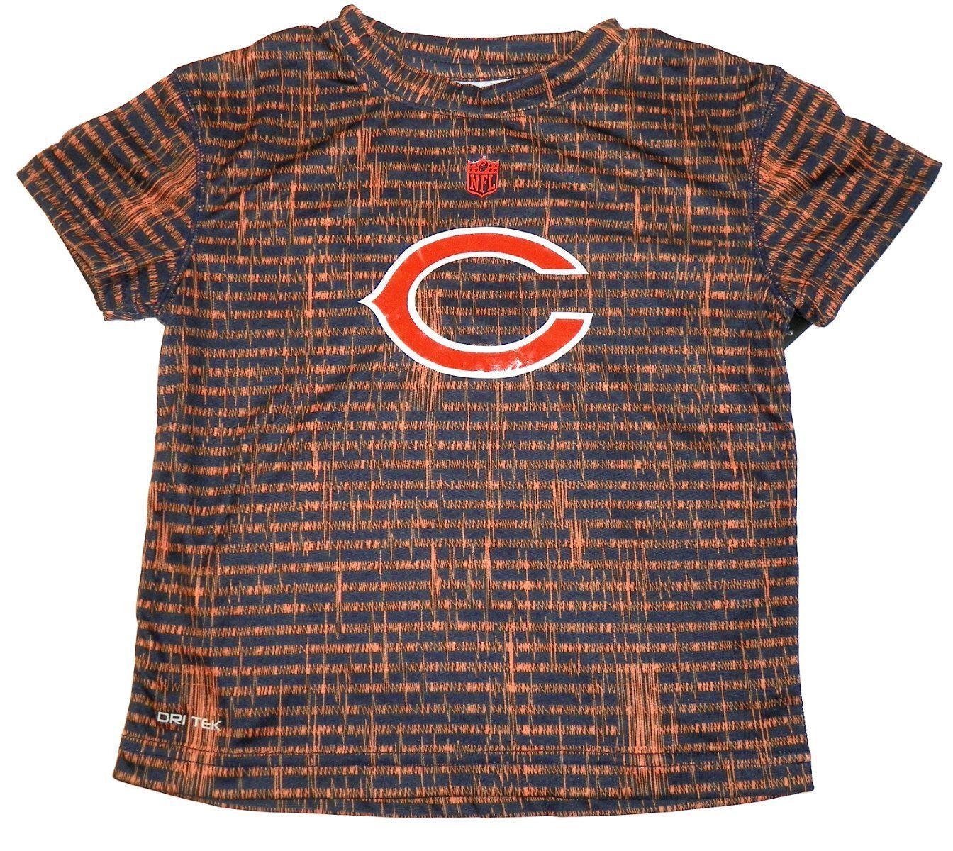 Chicago Bears Boy's 4-7 Shirt NFL Resounding Short Sleeve Dri Tek Tee