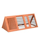 PawHut Wooden Outdoor A-Frame Rabbit and Small Animal Hutch - $59.49