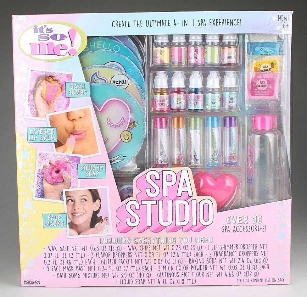 New Girl's It's So Me 4 In 1 Creative Spa Studio Bath Bombs Face Masks Soap Balm