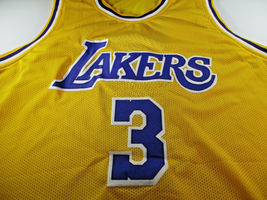 ANTHONY DAVIS / AUTOGRAPHED LOS ANGELES LAKERS YELLOW CUSTOM JERSEY / COA image 2
