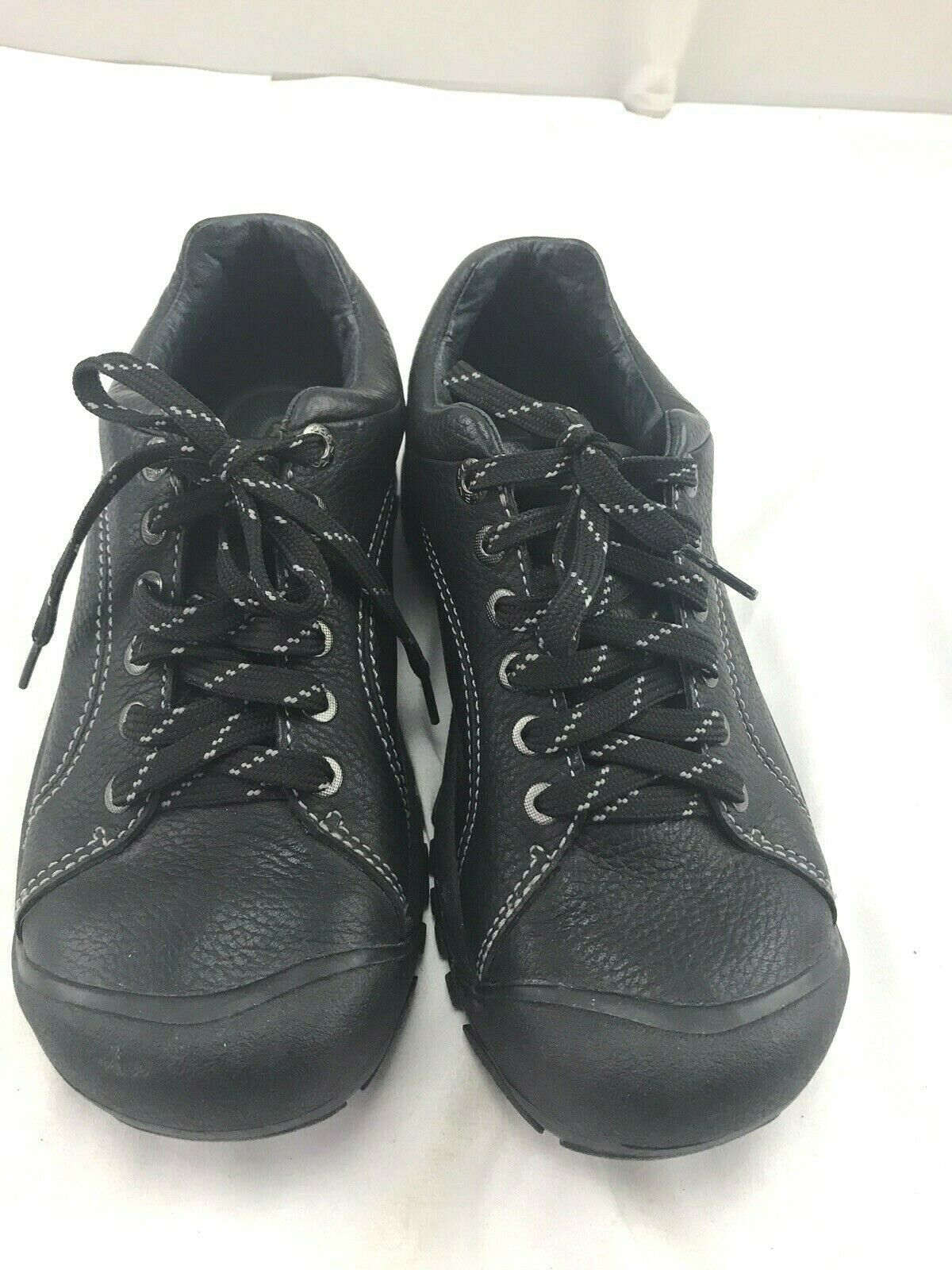 Keen sz 8 black leather tie shoes image 1