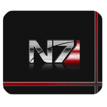Mouse Pad N7 Logo Mass Effect In Beautiful Dark Red Computer Design Vide... - €7,92 EUR