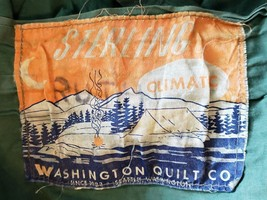 Vtg Sterling Sleeping Bag Boy Scout Camp Climatic Washington Quilt Co 1923 - $77.56 CAD