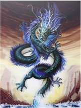 Blue Chinese Dragon 3D Lenticular Poster - $39.00