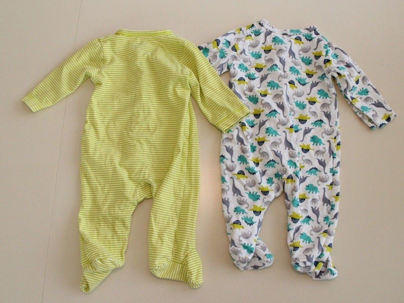9c2e20f417b1 Just One You 3 M - SET OF 2 Infant Sleeper Pajamas PJs Dino Dinosaur Unisex
