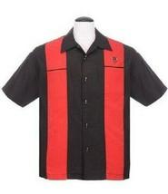 Steady Abbigliamento Classy Pistone Rosso Rockabilly Bowling Camicia But... - $62.99