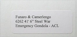 "Funaro & Camerlengo HO ACL 41'6"" Steel War Emergency Gondola Kit 6262 image 3"