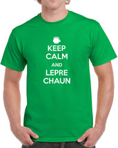 005 Keep Calm Leprechaun irish clover new mens t-shirt st. patricks day new - $9.99+