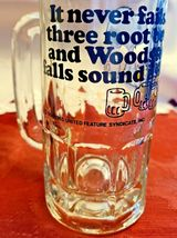 "Vintage SNOOPY Woodstock Peanuts ""Too Much Root Beer"" GLASS DRINKING MUG 1965 image 8"