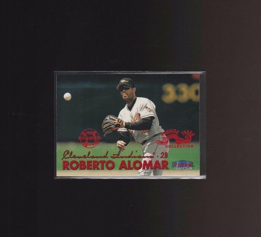 1999 Fleer Tradition Warning Track #51W Roberto Alomar Baltimore Orioles image 1