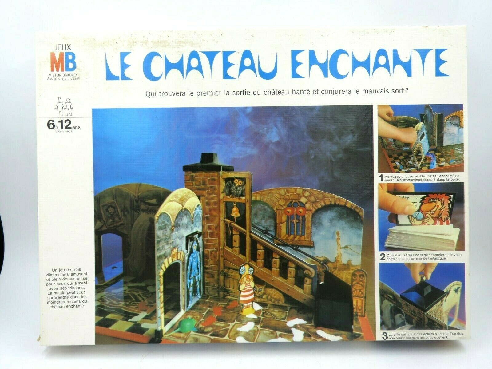 Primary image for RARE Vintage Le Château Enchante French Board Game - 90% Complete